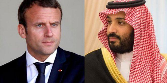 ماكرون يدين الهجمات التي استهدفت منشآت النفط السعودية خلال اتصال مع ولي عهد المملكة