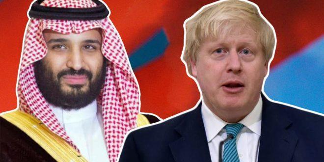رئيس الحكومة البريطانية يدين الهجمات التي استهدفت أرامكو خلال اتصال هاتفي مع ولي العهد السعودي
