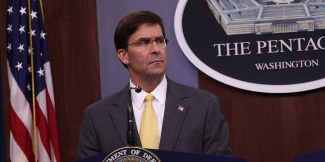وزير الدفاع الأمريكي يكشف عن إجراء مشاورات مع عدد من الدول للرد على هجمات أرامكو