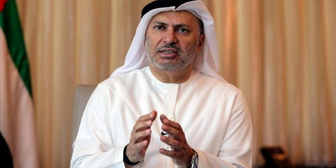 أنور قرقاش يعتبر الهجوم على منشآت نفطية سعودية تصعيد خطير في أوضاع المنطقة