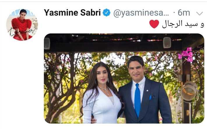 ياسمين صبري تغازل زوجها أحمد أبو هشيمة بهذه الكلمات