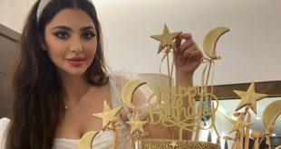 المغنية اللبنانية قمر تغني وترقص في عيد ميلادها مع ابنها جيمي